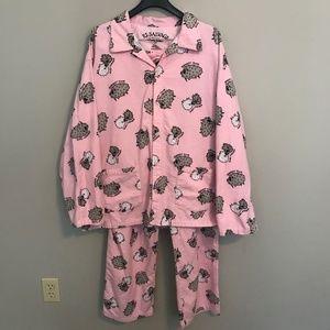 PJ Salvage Sheepy Time Pajama Set Size XL Pink